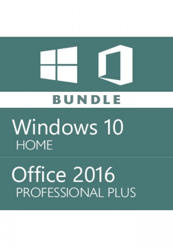 windows 10 Home + office 2016 Pro - Bundle
